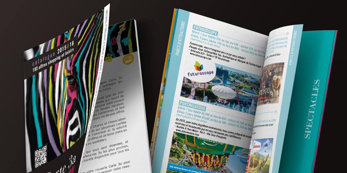 Création brochure carte 3A