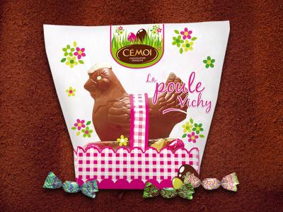 Packaging Paques – Poule Vichy – Cémoi