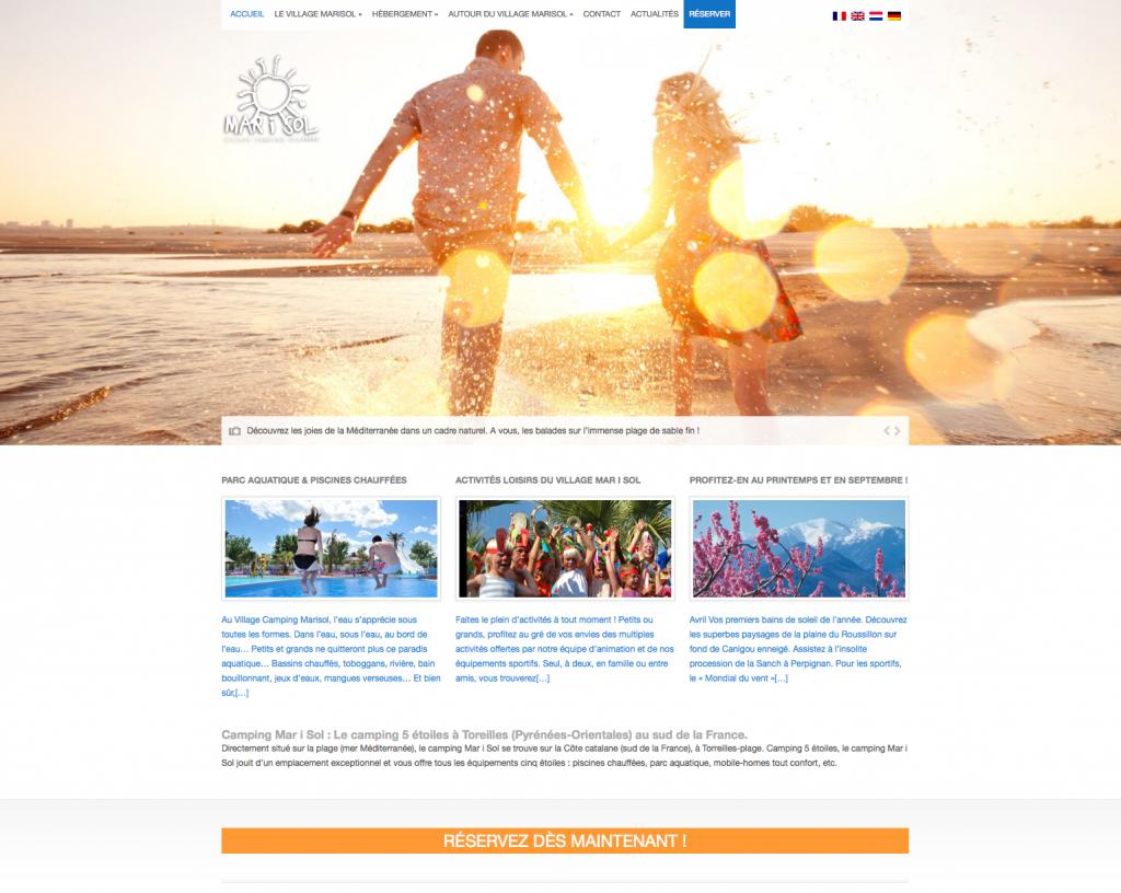 Le site fait la part belle aux images, promesses de bonnes vacances